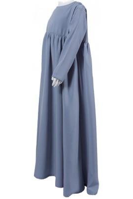 Abaya Sihem gris clair