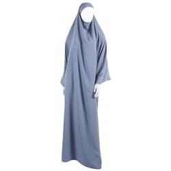 Jilbab 1 pièce gris clair