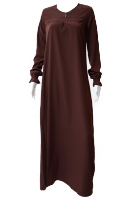 Abaya Almass marron chocolat