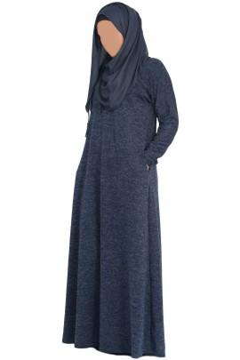 Abaya Lila Bleu