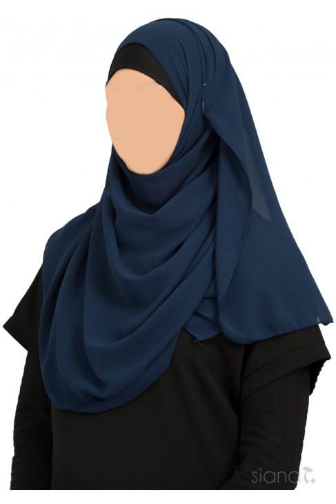 Hijab Siham Bleu marine
