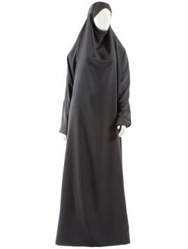 Jilbab 1 pièce Safâ gris