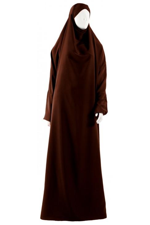Jilbab 1 pièce marron