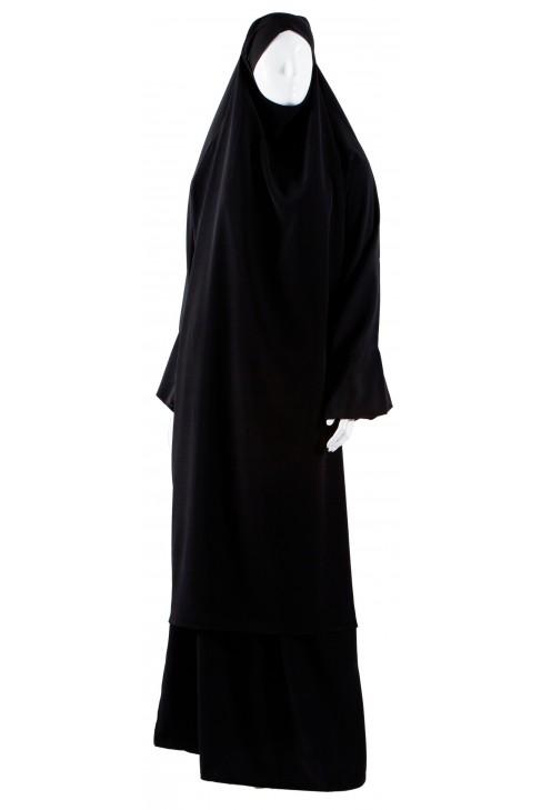 Jilbab 2 pièces noir