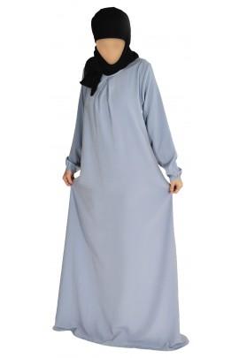 Abaya Ourida Gris clair