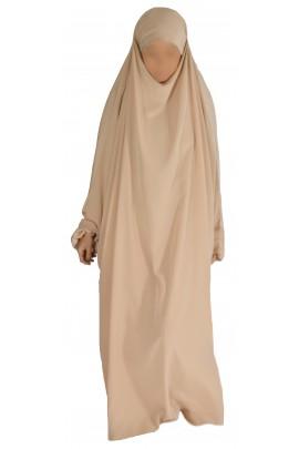 Jilbab 1 pièce beige