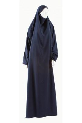 Jilbab 1 pièce Safâ bleu