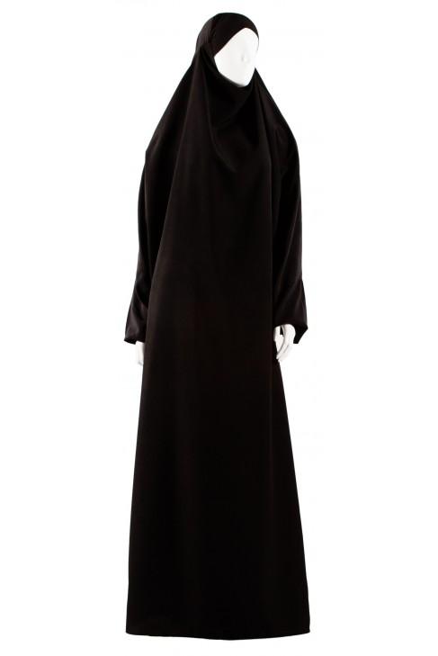 Jilbab 1 pièce Safâ noir